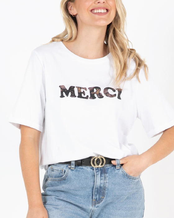 Merci Tee - White