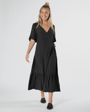 Sylvi Puff Dress - Black