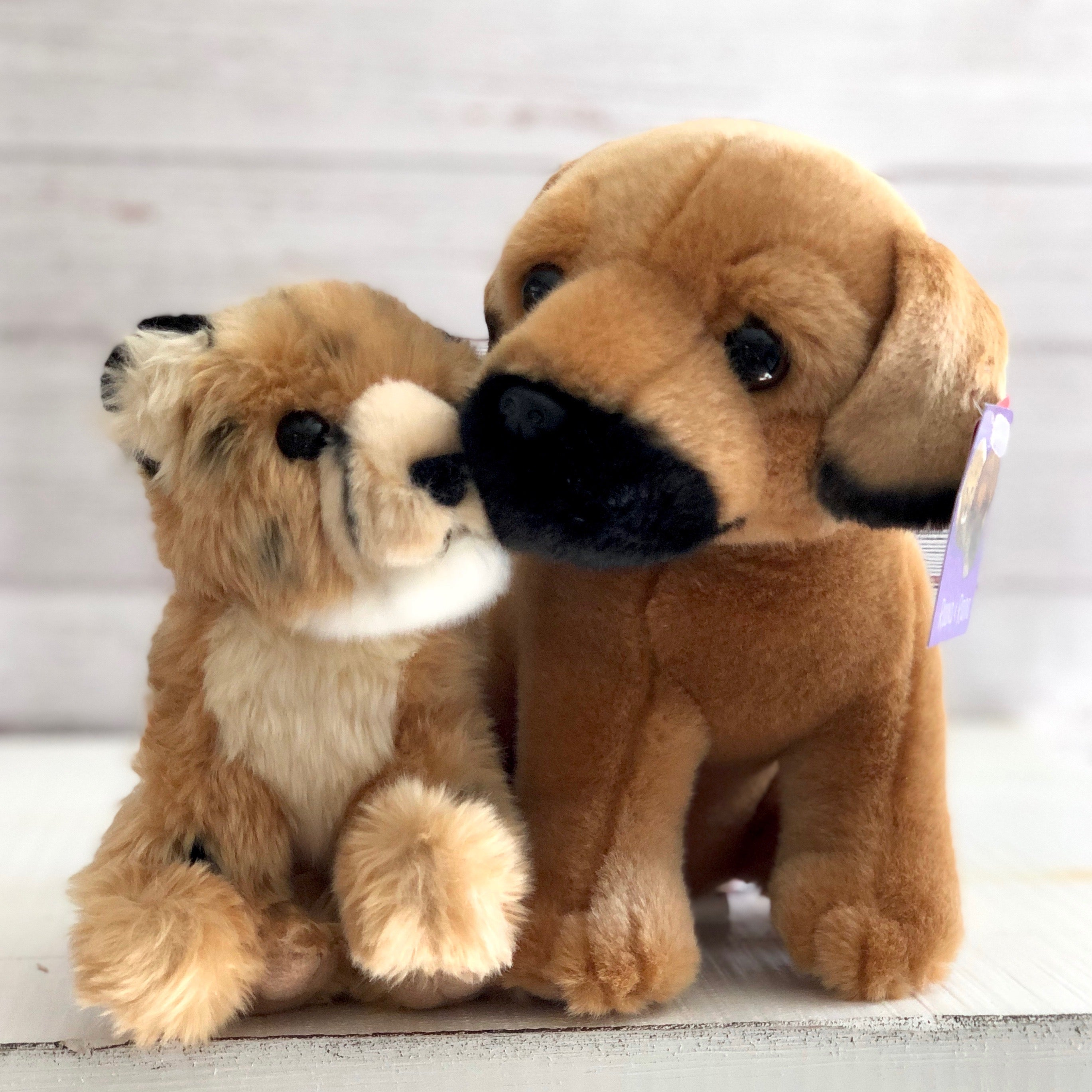 Cheetah and Dog plush