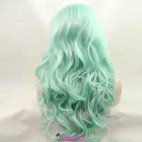 Natural mint color long wavy Lace Front Wig - Shiny Way Wigs Brisbane