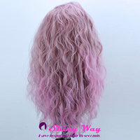 Light pink long wavy Lace Front Wig - Shiny Way Wigs Adelaide SA