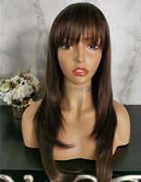 Natural brown long wavy fashion wig by Shiny Way Wigs Melbourne VIC