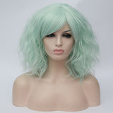 Natural mint medium length curly wig by Shiny Way Wigs Melbourne VIC
