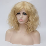 Honey blonde medium length curly wig by Shiny Way Wigs Melbourne VIC
