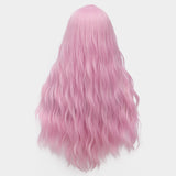 Light purple long curly wig without fringe by Shiny Way Wigs Sydney