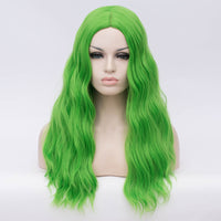 Natural green long curly without fringe wig by Shiny Way Wigs Adelaide