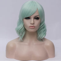 Short mint curly costume and fashion wig - Shiny Way Wigs Adelaide SA