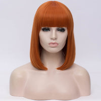 Natural orange full fringe medium bob wig by Shiny Way Wigs Adelaide SA