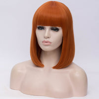 Natural orange full fringe medium bob wig by Shiny Way Wigs Perth WA