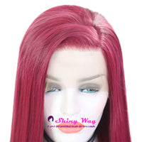 Natural Red Long Silk Straight Lace Front Wigs - Shiny Way Wigs Sydney