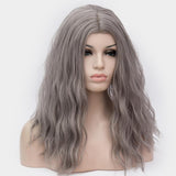 Dark grey long curly wig best quality at Shiny Way Wigs Brisbane QLD