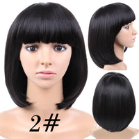 Natural black short bob wig by Shiny Way Wigs Melbourne Australia