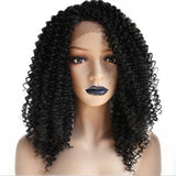 Natural Black Tight Curly Lace Front Wig By Smart Wigs Melbourne