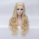 Honey blonde long curly with braids costume wig - Shiny Way Wigs Sydney