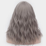 Dark grey long curly wig best price at Shiny Way Wigs Brisbane QLD