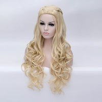 Honey blonde long curly with braids costume wig by Shiny Way Wigs Sydney