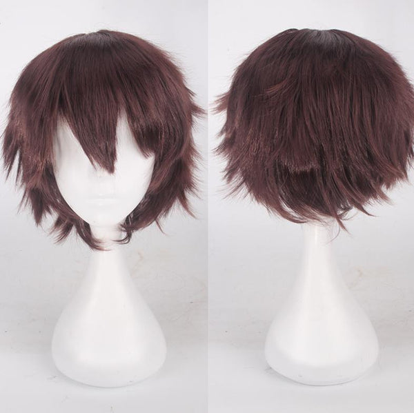 Dark brown short cosplay costume wig only at Shiny Way Wigs Adelaide SA