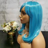 Sky blue long wavy costume wig by Shiny Way Wigs Sydney NSW