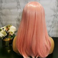 Pale pink long wavy costume wig by Shiny Way Wigs Melbourne VIC