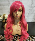 Light pink long curly costume wig by Shiny Way Wigs Brisbane QLD