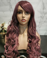 Natural purple long curly costume wig by Shiny Way Wigs Brisbane QLD