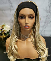 Natural blonde long braided fashion wig by Shiny Way Wigs Sydney NSW