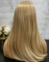 Natural blonde with highlights long wavy wig by Shiny Way Wigs Sydney