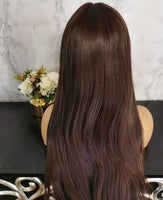 Natural off black long straight fashion wig by Shiny Way Wigs Adelaide
