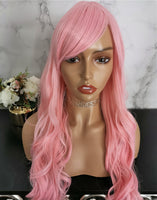 Pale pink long curly costume wig by Shiny Way Wigs Brisbane QLD