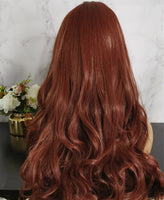 Natural ruby red long curly costume wig by Shiny Way Wigs Sydney NSW