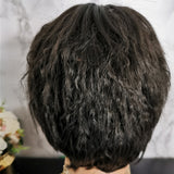 Natural black short curly wig by Shiny Way Wigs Sydney NSW