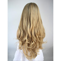 Honey Blonde with Dark Root Wavy Lace Front Wig Sydney AU