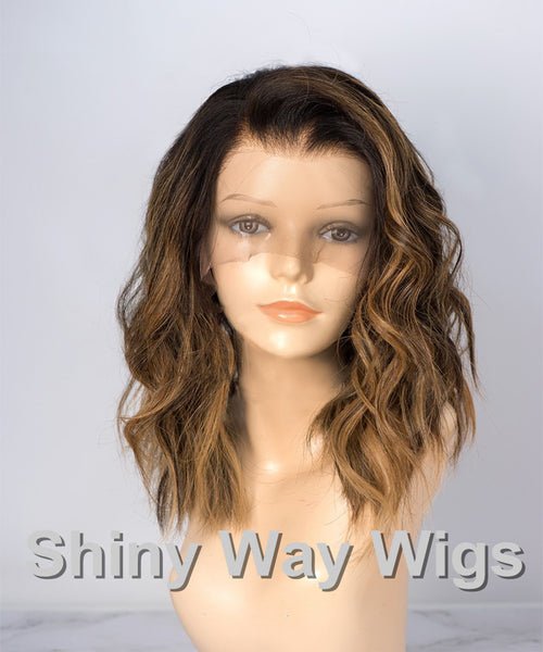Omber Color Body Wavy Brazilian Virgin Human Hair Lace Wig - Shiny Way Wigs Melbourne