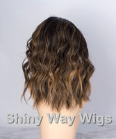 Omber Color Body Wavy Brazilian Virgin Human Hair Lace Wig - Shiny Way Wigs Melbourne AU