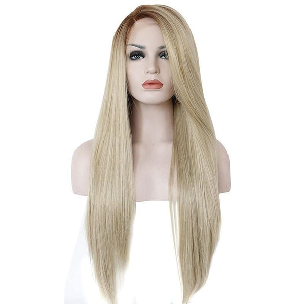 Ombre Brown to Blonde Silk Straight Lace Front Wig - Smart Wigs Melbourne VIC