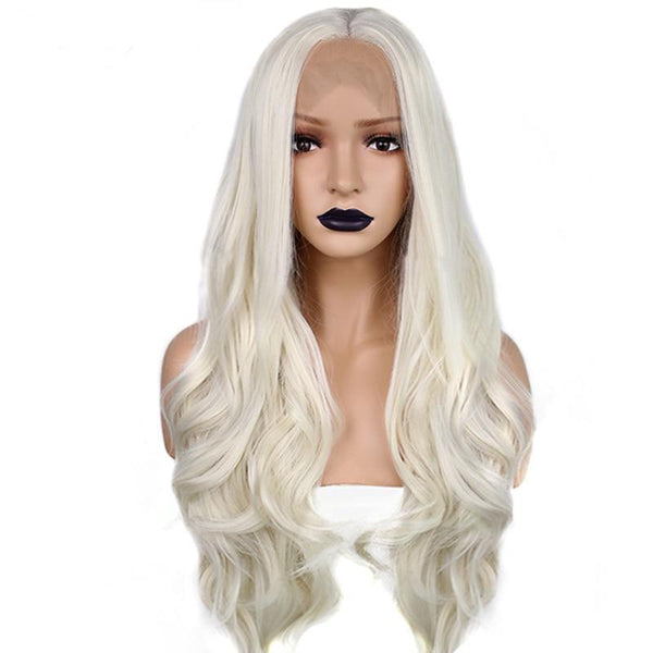 Body Wave Platinum Blonde Natural Hairline Lace Front Wig - Smart Wigs Melbourne AU