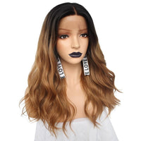 Dark Root Ombre Brown Body Wave Lace Front Wig - Smart Wigs Sydney AU