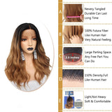 Dark Root Ombre Brown Body Wave Lace Front Wig - Smart Wigs Adelaide AU