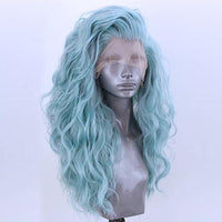 Smart Wigs Adelaide SA offers this Light Blue Natural Wavy Lace Front Wig