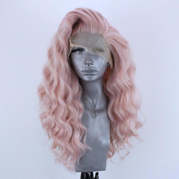 Smart Wigs Adelaide Australia offers this warm pink body wavy Lace Front Wig