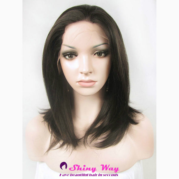 Natural brown medium Lace Front Wig - Shiny Way Wigs Melbourne VIC