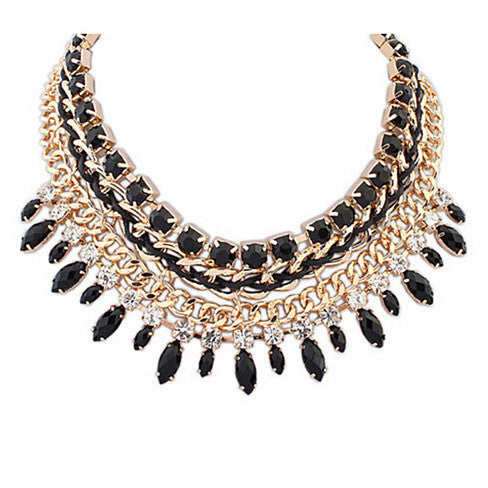 LAST ONE LEFT Black & gold statement choker / necklace