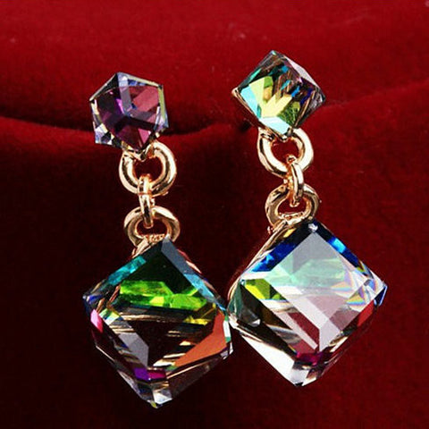 Cystal Cubes Earrings