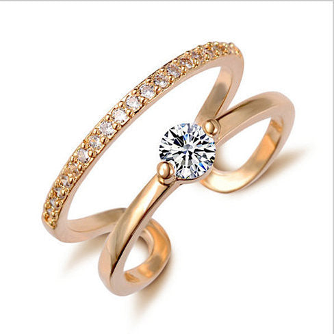 Stunning Double Band Diamond Ring