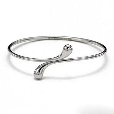Elongated Teardrop Bangle