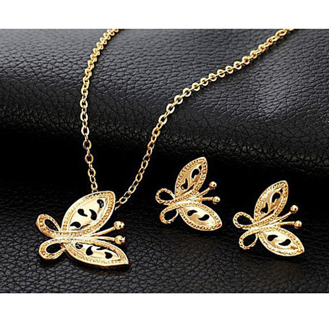 Butterfly Pendant & Earrings set