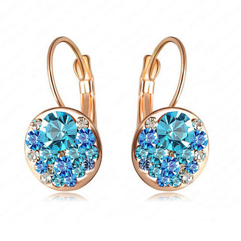 Periwinkle Drop Earrings with Swarovski Elements