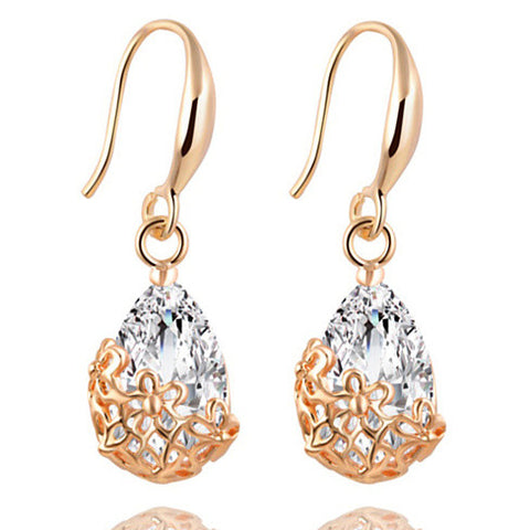 Infused Diamond Dust Dangling Earrings