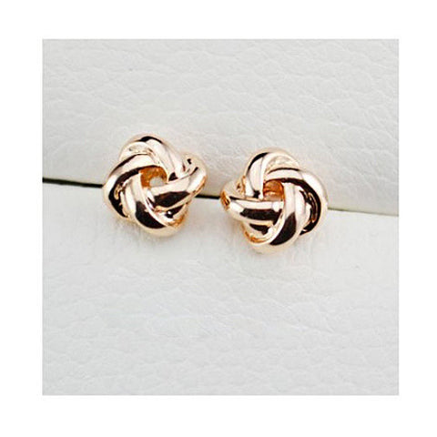 Classy Love Knot Post Stud Earrings