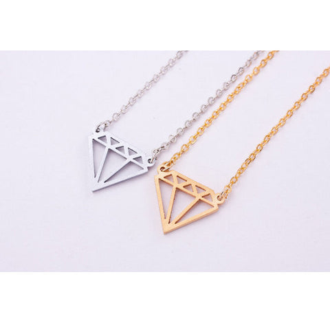 """Diamond"" necklace"